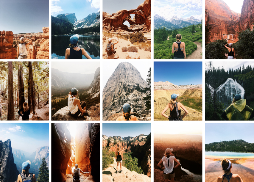 Kayla throughout her #vanlife experience touring nine states and twelve of America's National Parks