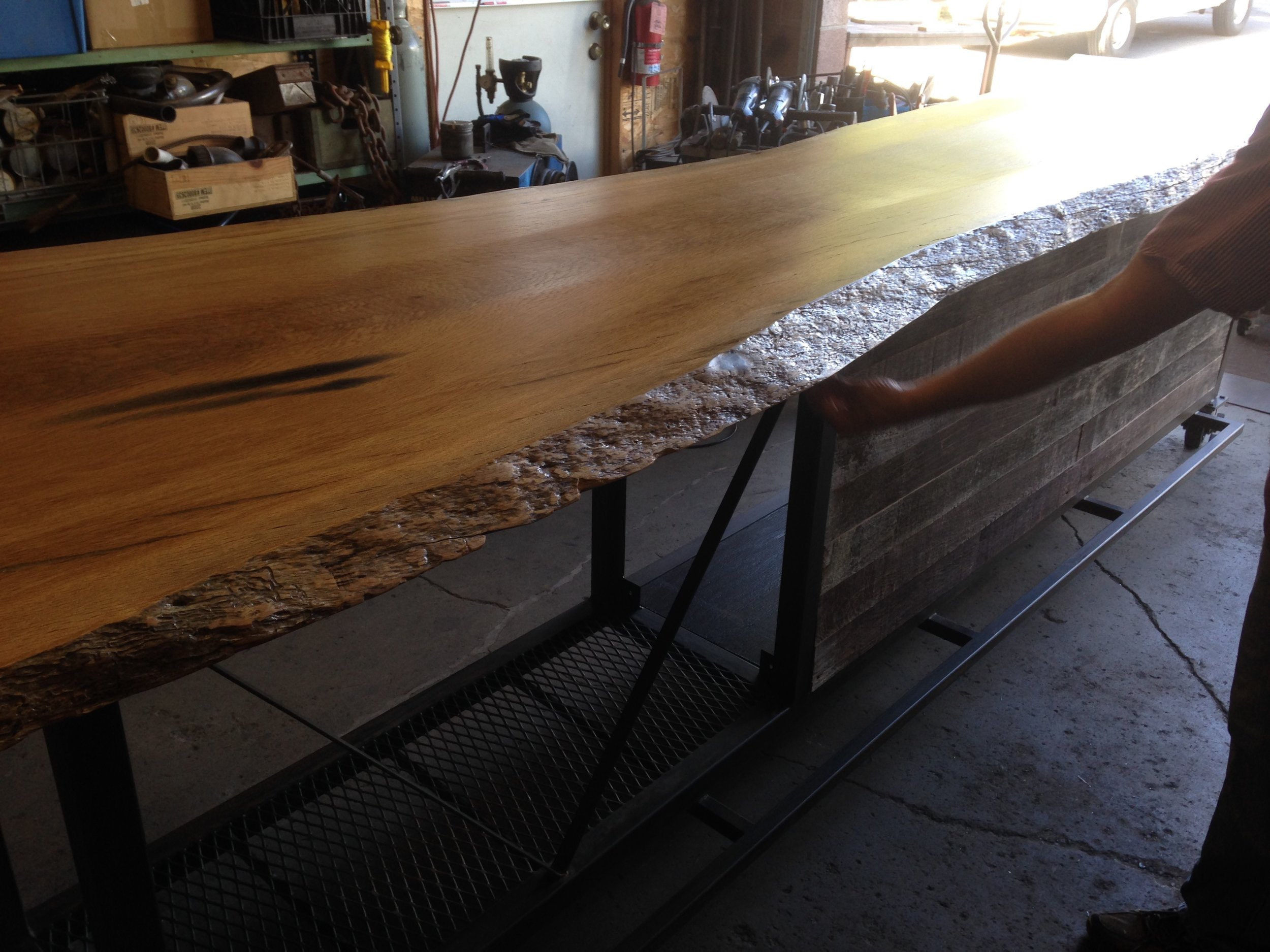 CUSTOM - Oak slab counter