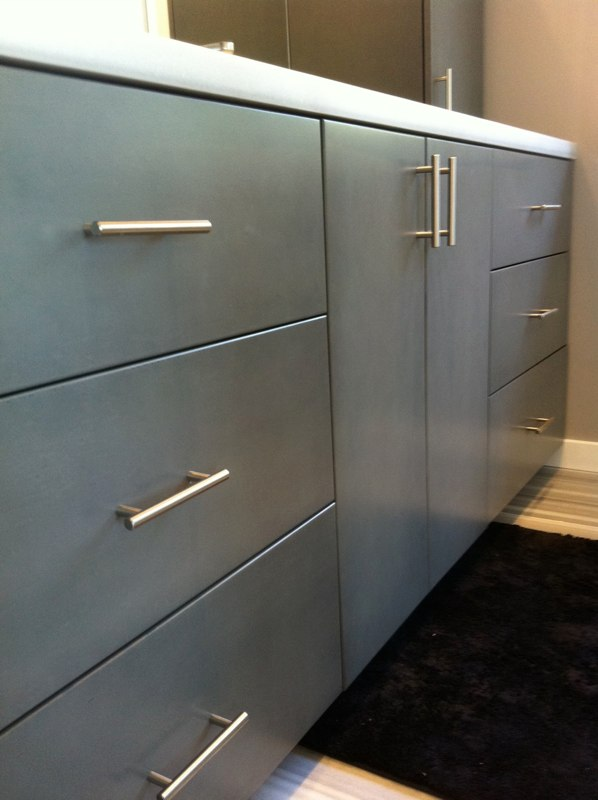 CUSTOM - Grey finished cabinets