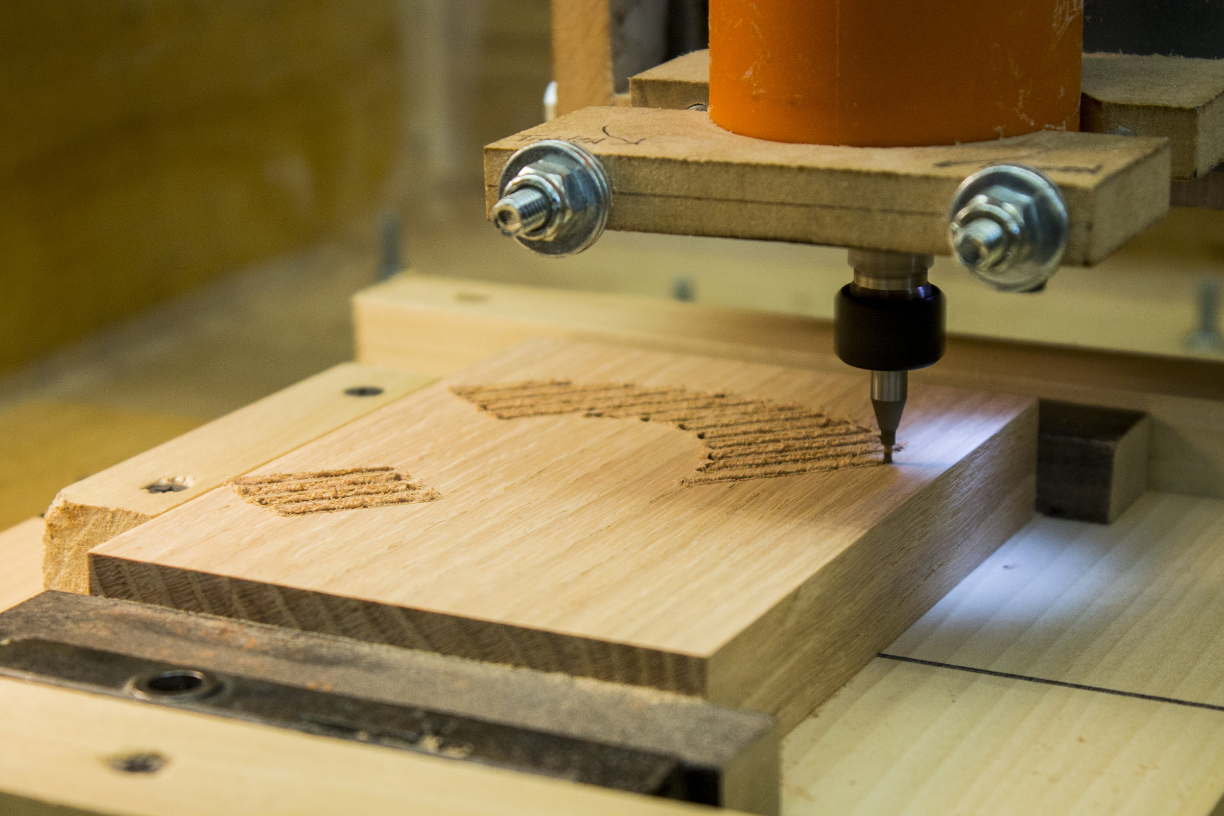 CNC Router cuts wood in a Bay Area FabLab, installed by IDEA BUILDER Labs