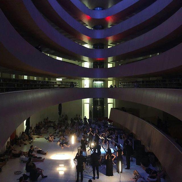 the @kaleidoscope_string_quartet at #rwi #zurich. it was #magical!  #kaleidoscopestringquartet #stringquartet #guerillaclassics #streichquartett #archtecture #calatrava #santiagocalatrava #strings #woodwinds #livemusic
