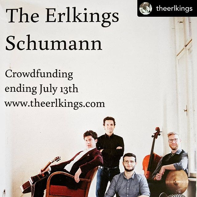 support the new schumann project of @theerlkings! Now on wemakeit!  #schumann #theerlkings #cello #tuba #guitar #drums #vibraphone #voice #crowdfunding #classicalmusic #newalbum #song #kunstlied #lied #nextstep #schubert