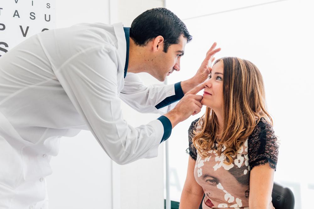 girl with an eye doctor
