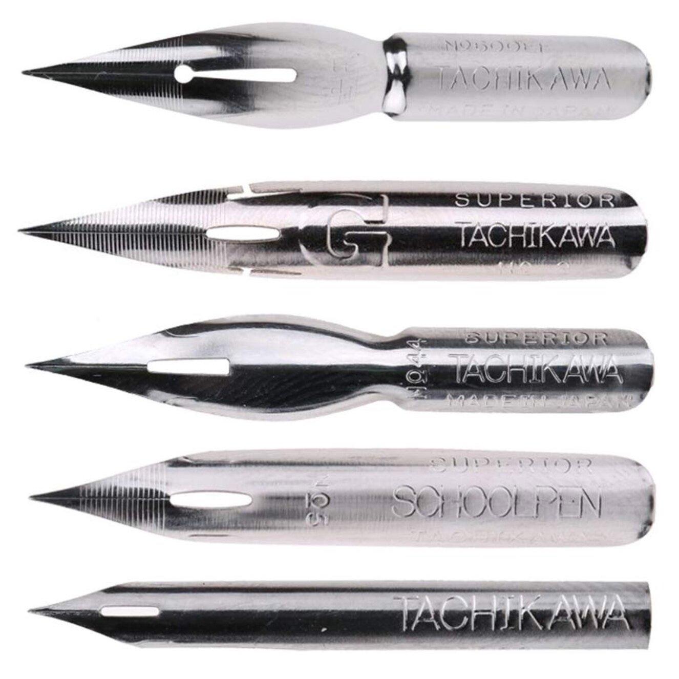 Tachikawa Set of Five Pen Nib Set