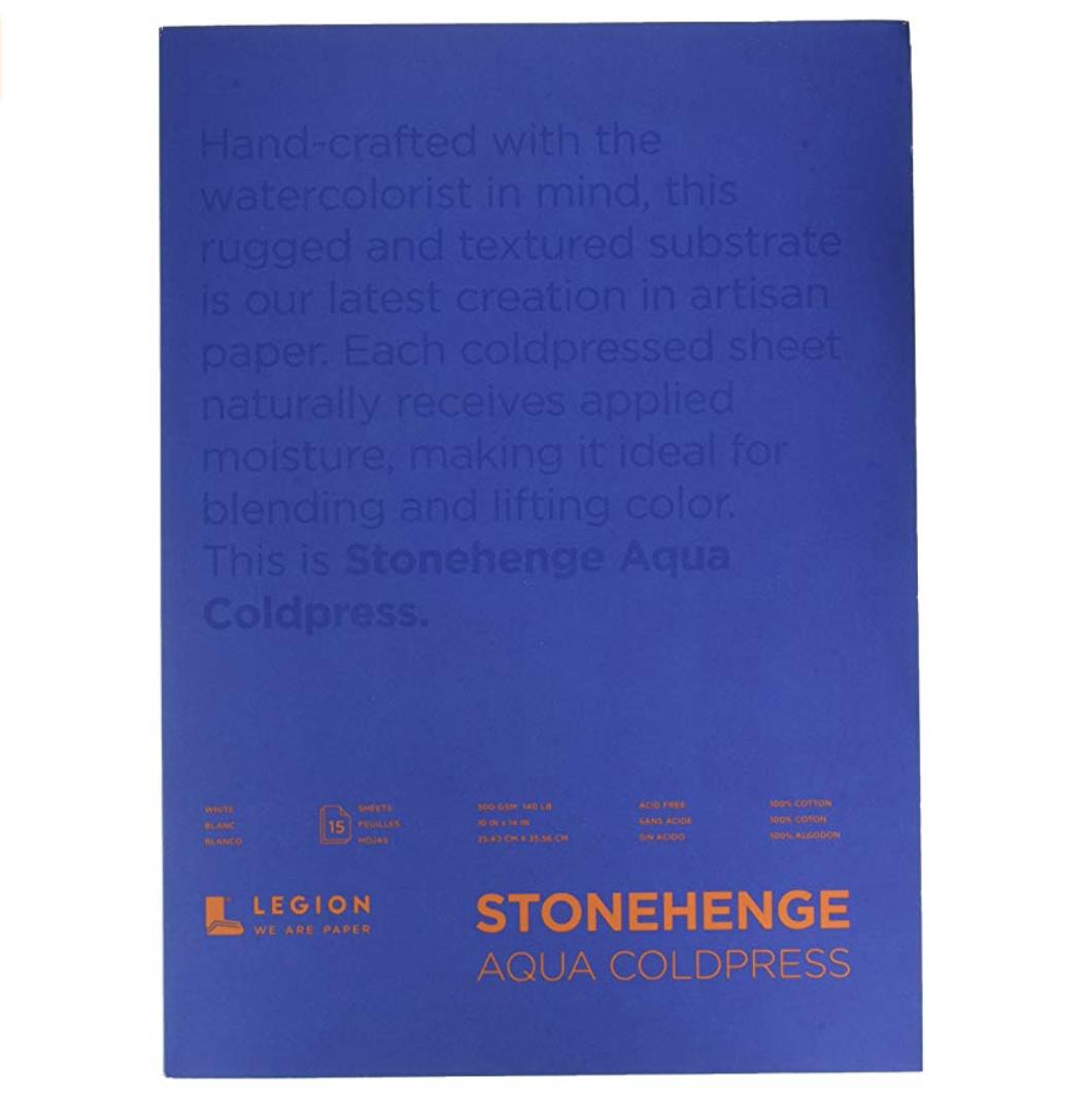 Legion Stonehenge Aqua Watercolor Block, 140lb. Cold Press