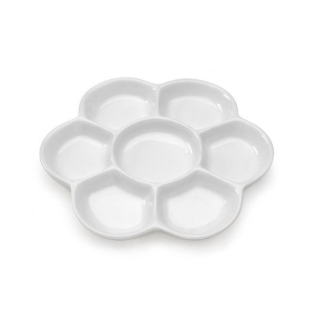 7-Well Porcelain Palette, 6-Inch