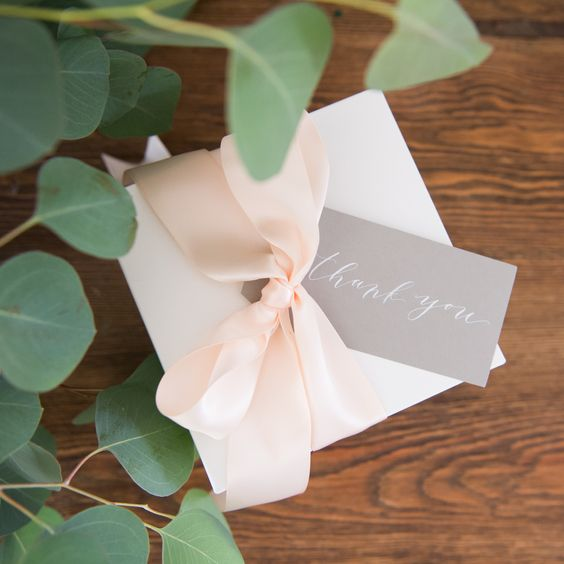 Cardboard Gift Packaging with Calligraphy Tag