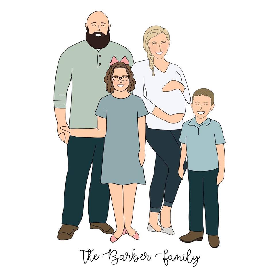 Family Sketch - Variable Pricing $20+