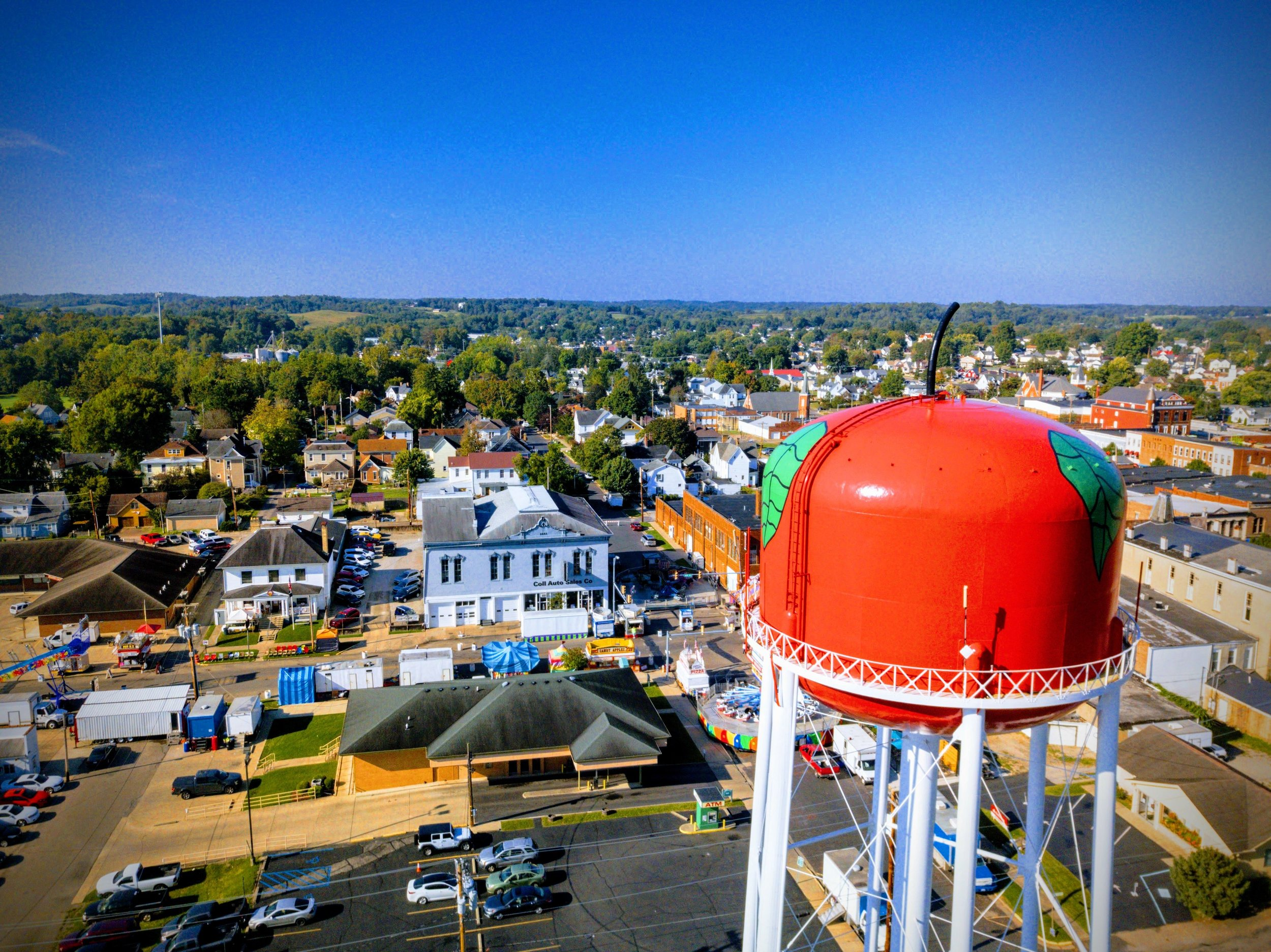 The iconic Jackson water tower is one of only a few food-based water towers in the country