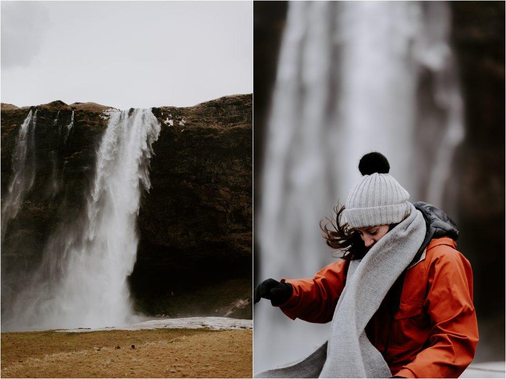 Seljalandsfoss Iceland Waterfall   Boston and Iceland Wedding Photographer   madelinerosephoto.com