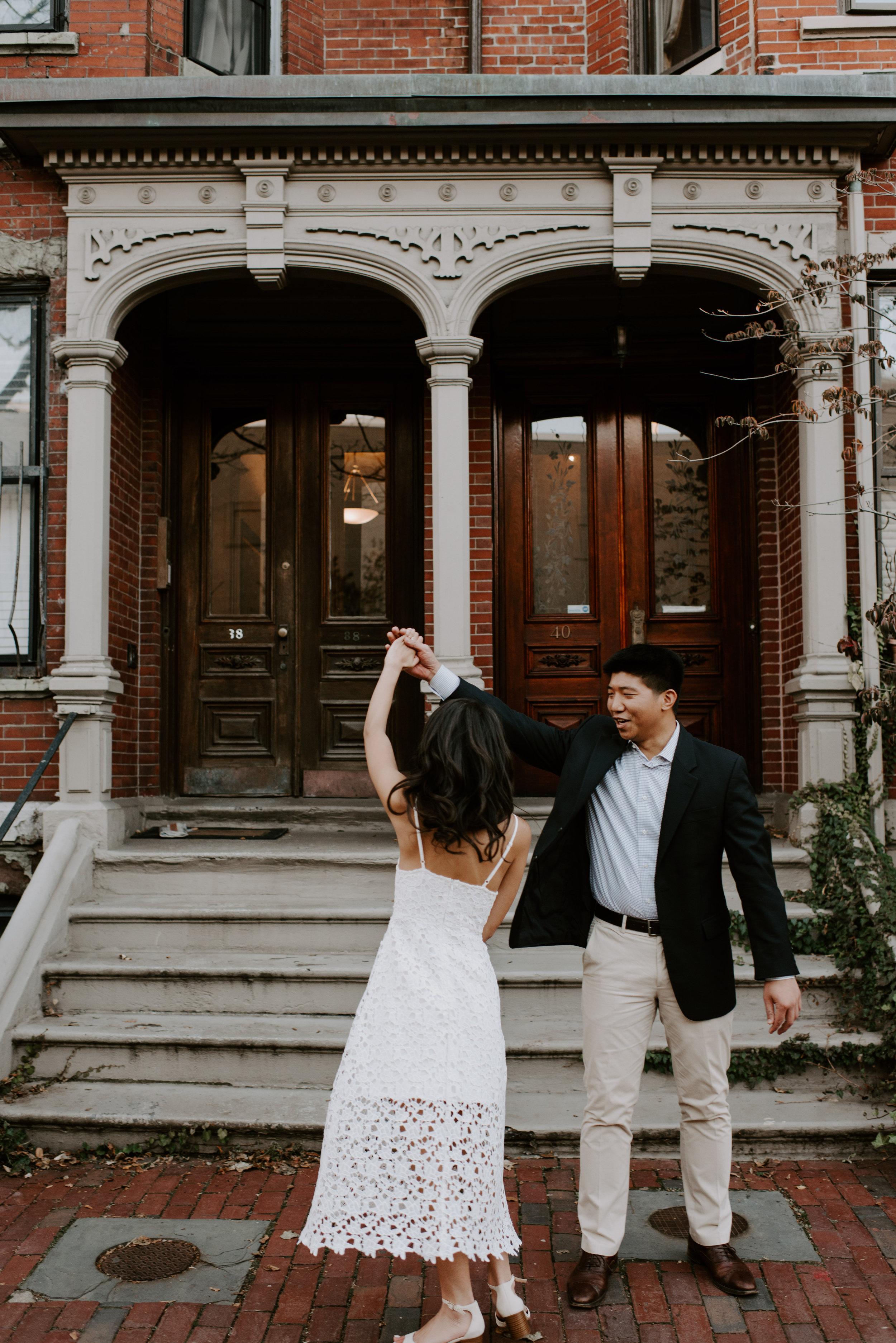 Sam and Thomas's Cozy Boston Engagement Session | Boston Wedding Photographer