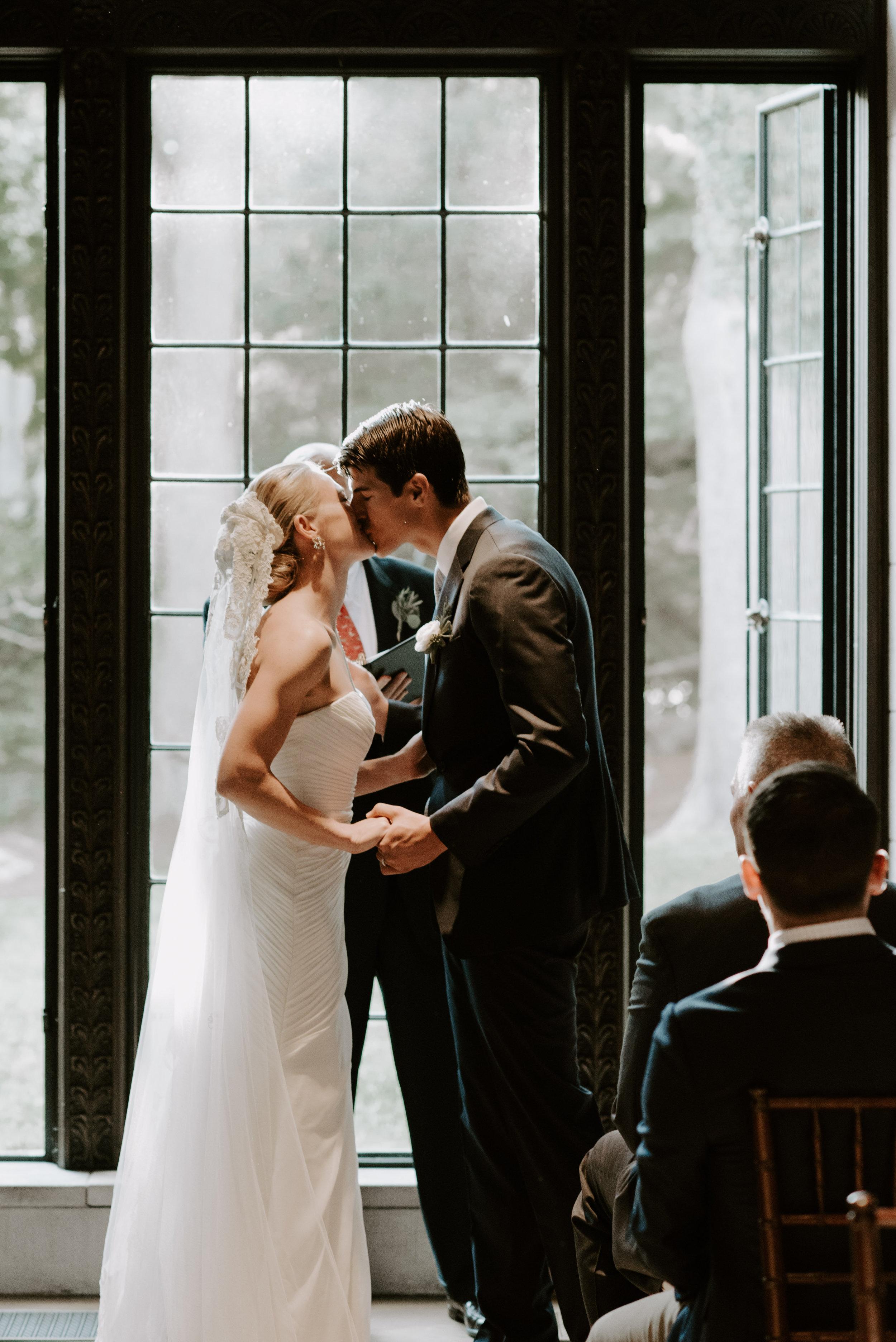 Moody Intimate Library Wedding | Boston Wedding Photographer | Madeline Rose Photography Co.