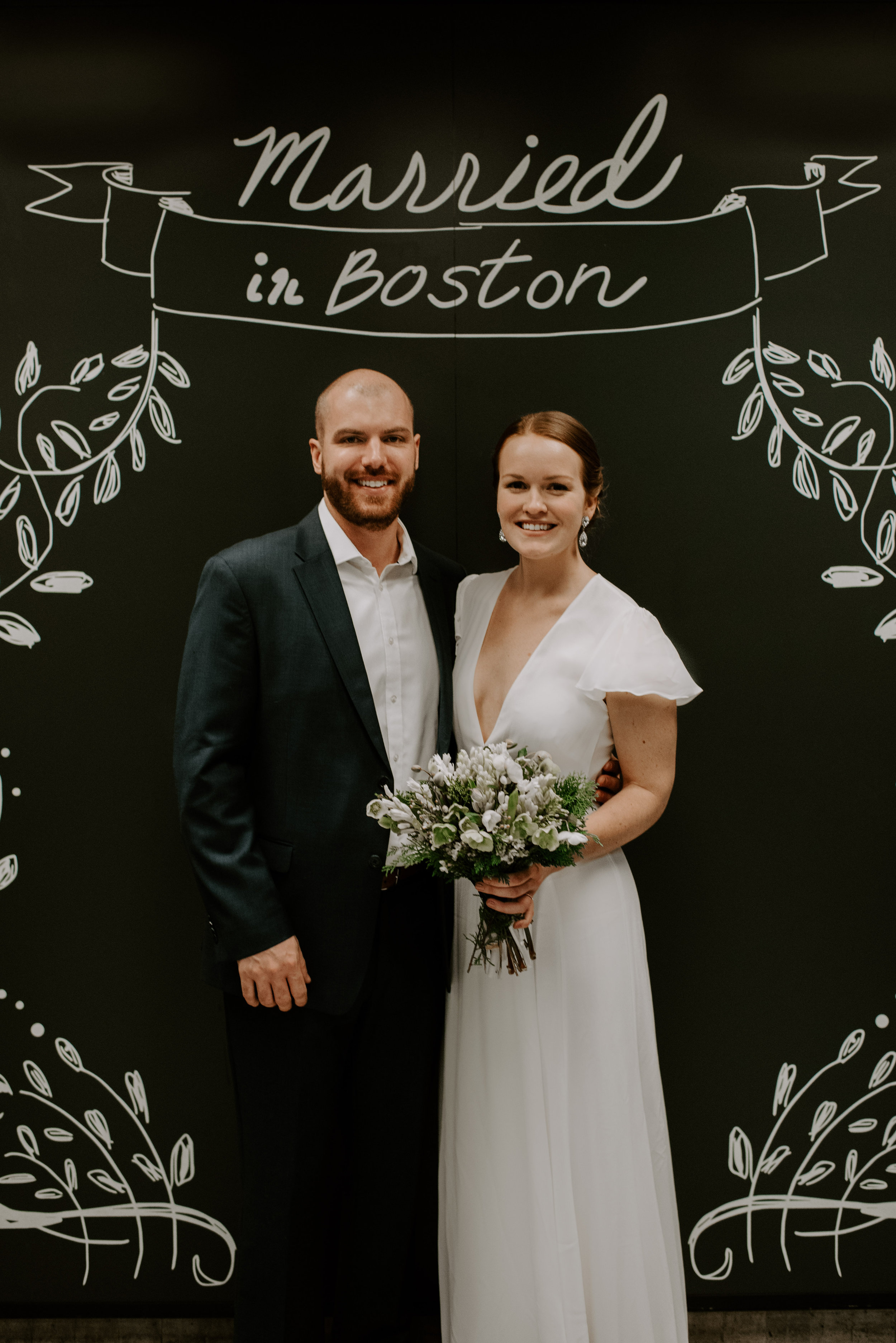 Dramatic and Moody Christmastime Elopement in Beacon Hill Boston | Boston Wedding Photographer