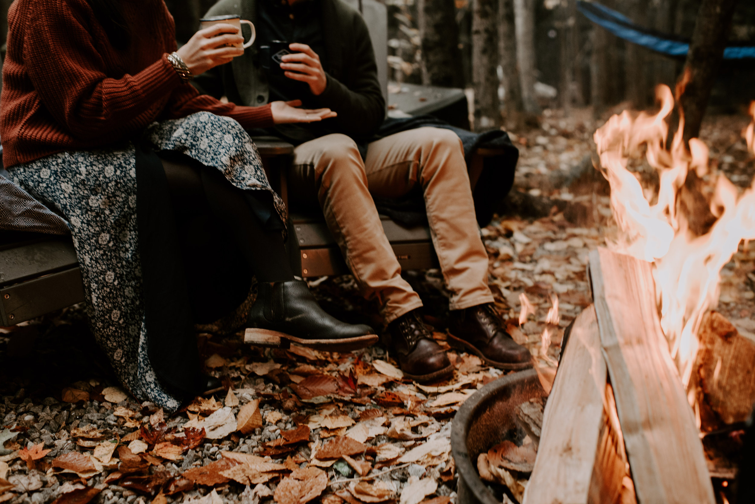 Lisa And Ryan's Camping Engagement Session At The Getaway Houses   New Hampshire Wedding Photographer   Madeline Rose Photography Co.