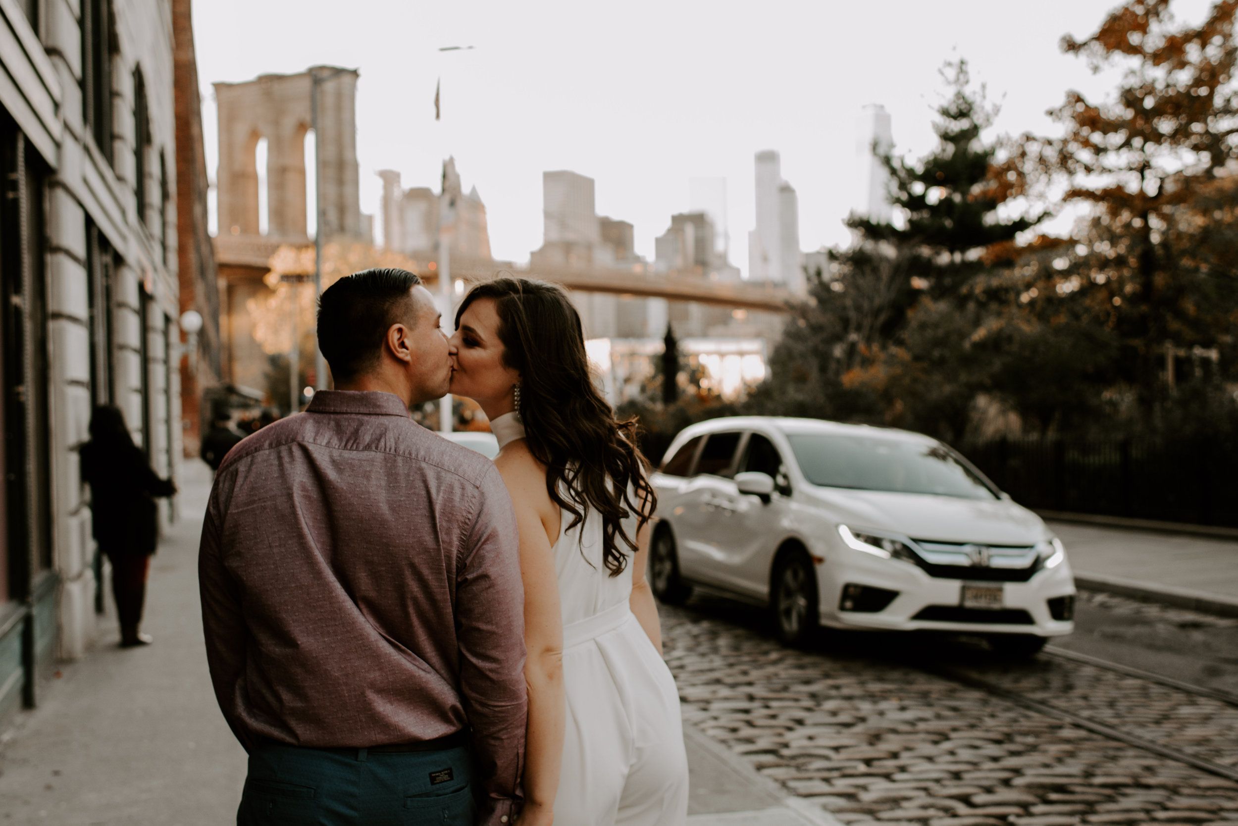 Nicole and Tyler's Fall Brooklyn Engagement Session | Brooklyn Wedding Photographer | Madeline Rose Photography Co.