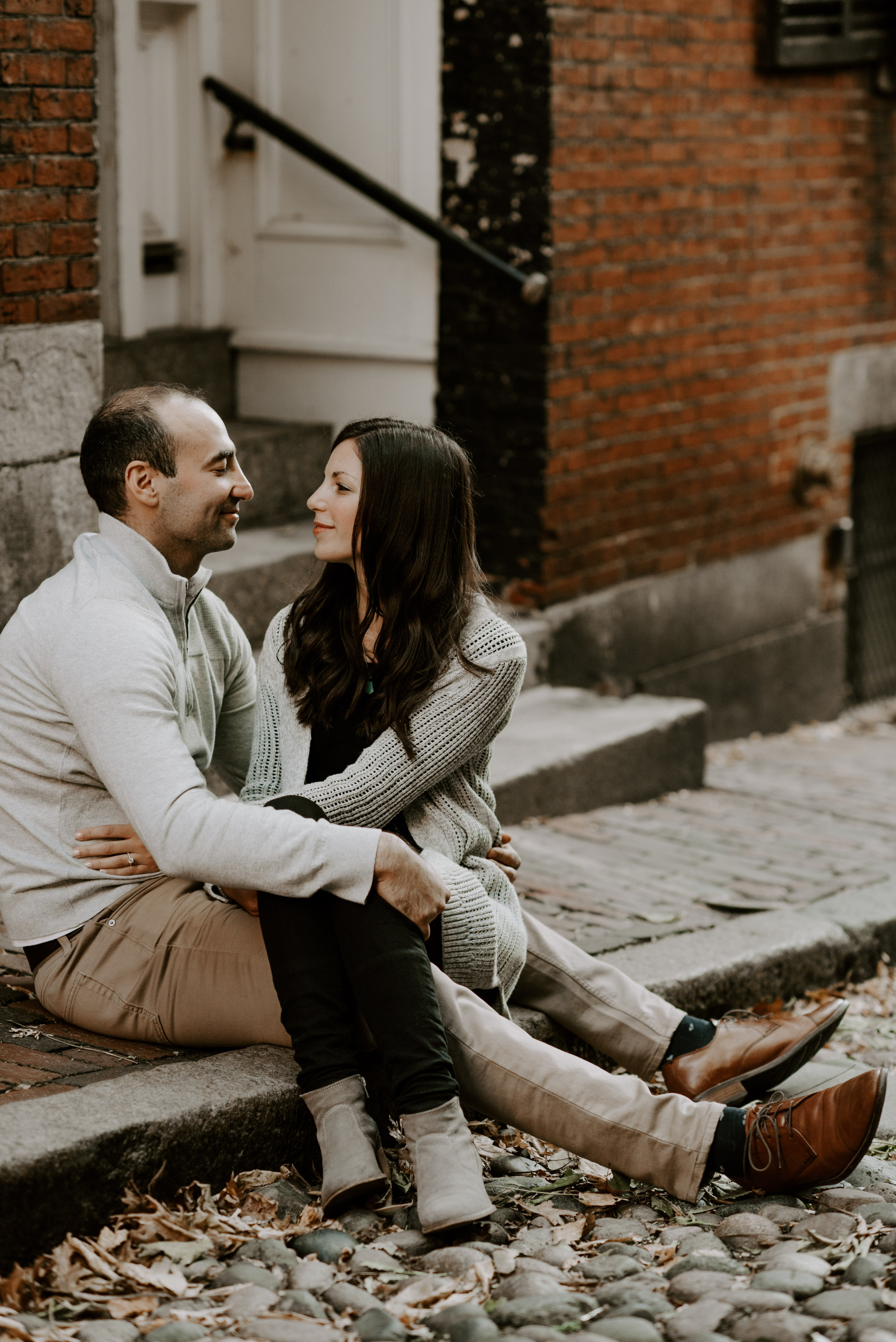 Dramatic and Moody Downtown Boston Engagement Session | Boston Wedding Photographer | Madeline Rose Photography Co.