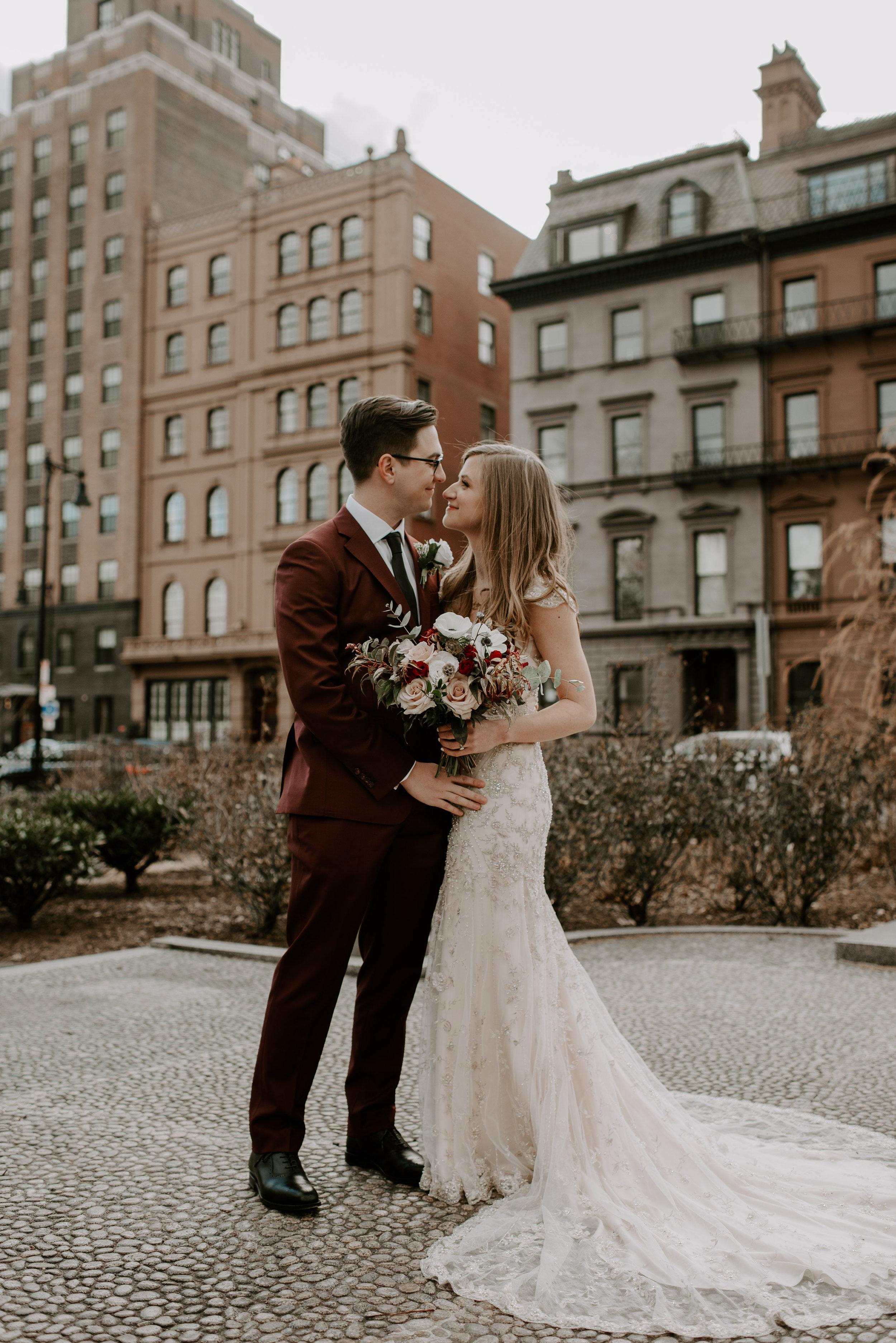 Downtown Boston Wedding Elopement | Boston City Hall Elopement | Boston Wedding Photography