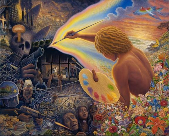 Paintbrush Warrior by Mark Henson