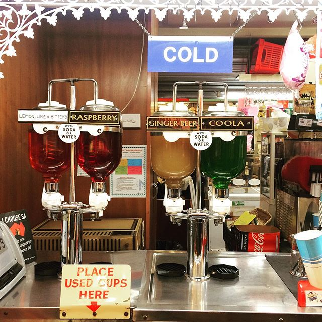 Day five: This flaky millennial is learning a thing or two about loyalty from Adelaide Covered Market, which has been running for 150 years and is packed with retro gems such as this old school cordial stand. If it ain't broke... . . . . #travelwriting #travelSA #southaustraliatraveller #aussiesofinstagram #adelaidekane #travelpic #vintage #travelblogger #travelwriting #travelphotography #travelbug #travelholic #traveldeeper #jetsetfam #weekendbibes #picoftheday #myinstadiary #digitalnomads #foodporn #australia_shotz #instago