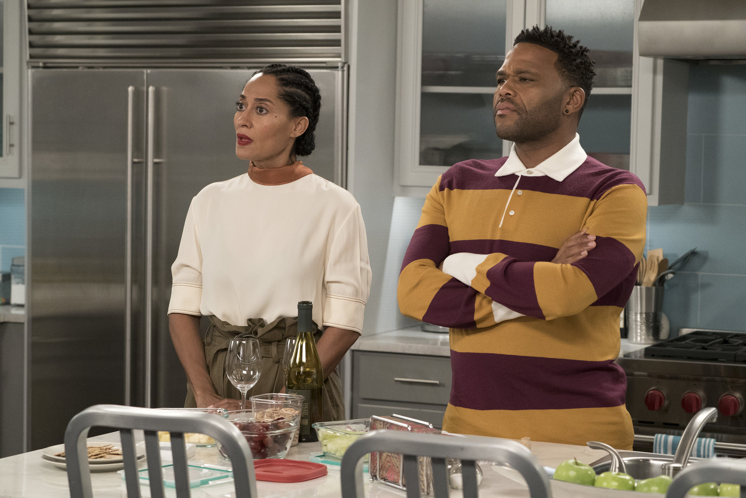 """theshaderoom.com  Looks like ABC wasn't here for a """"Black-ish"""" episode about the National Anthem protests. According to reports, the network decided to shelve an episode titled """"Please, Baby Please"""" indefinitely due to """"creative differences"""" with creator and showrunner Kenya Barris."""