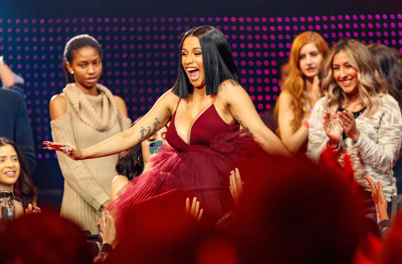 thegrapevine.theroot.com  TMZ is reporting that world's most famous procurer of bloody shoes, Cardi B, is pregnant—approximately six months along, in fact.