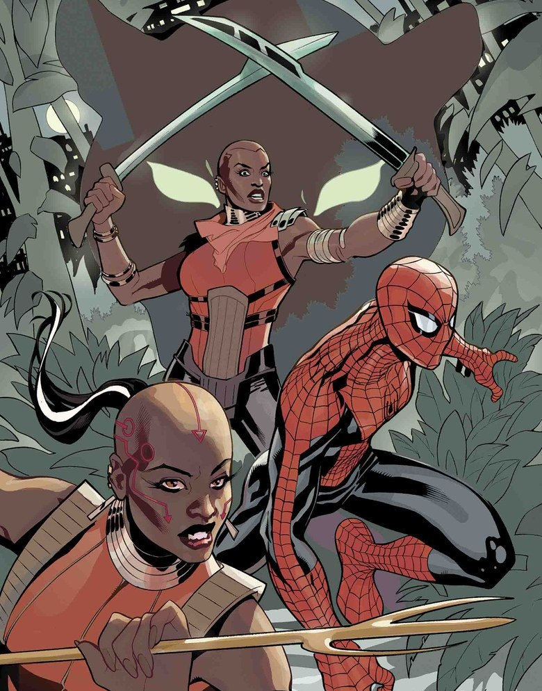 blavity.com  Our fierce female warriors from Black Panther,Dora Milaje are getting their own spin-off in Marvel's new comic book Wakanda Forever: The Amazing Spider-Man.