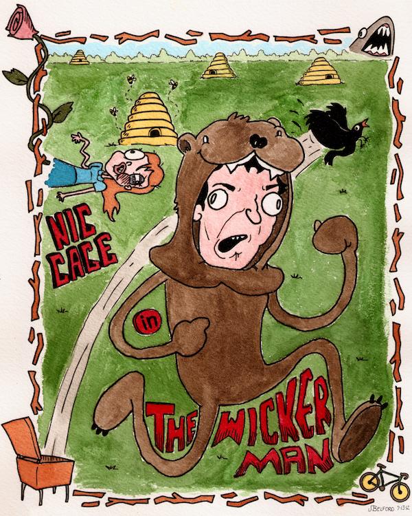 The Wicker Man (watercolor)