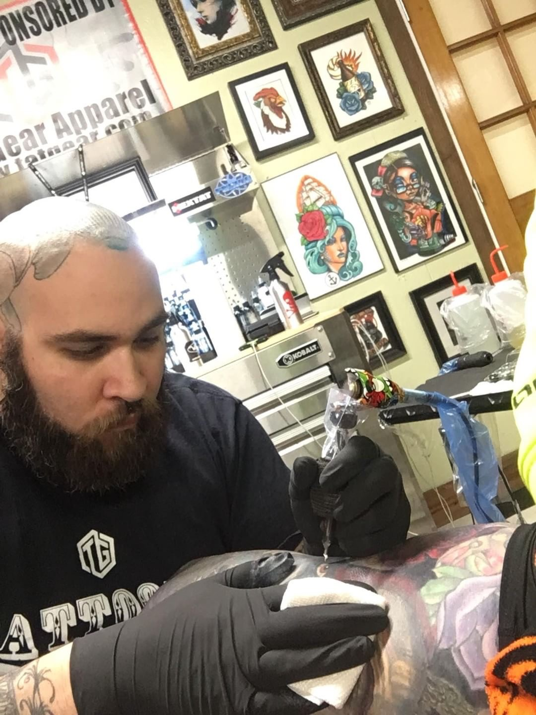 Brett Boone - Brett is a solid tattooer that can do a wide range of tattoo styles. Click on his picture to see his portfolio!