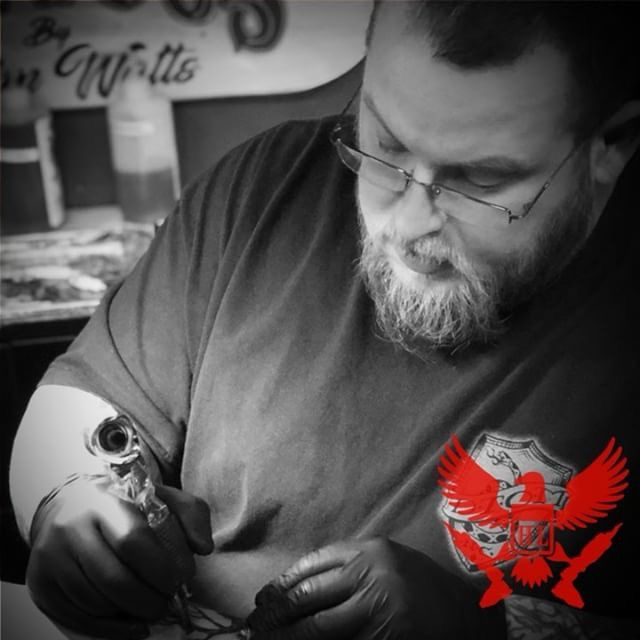 John Watts - John has been a professional tattooer since June of 1996 in the Atlanta and North Georgia area. He works freely in most styles but concentrates the majority of his time on black and gray and realism. Click on his pic to see his portfolio!