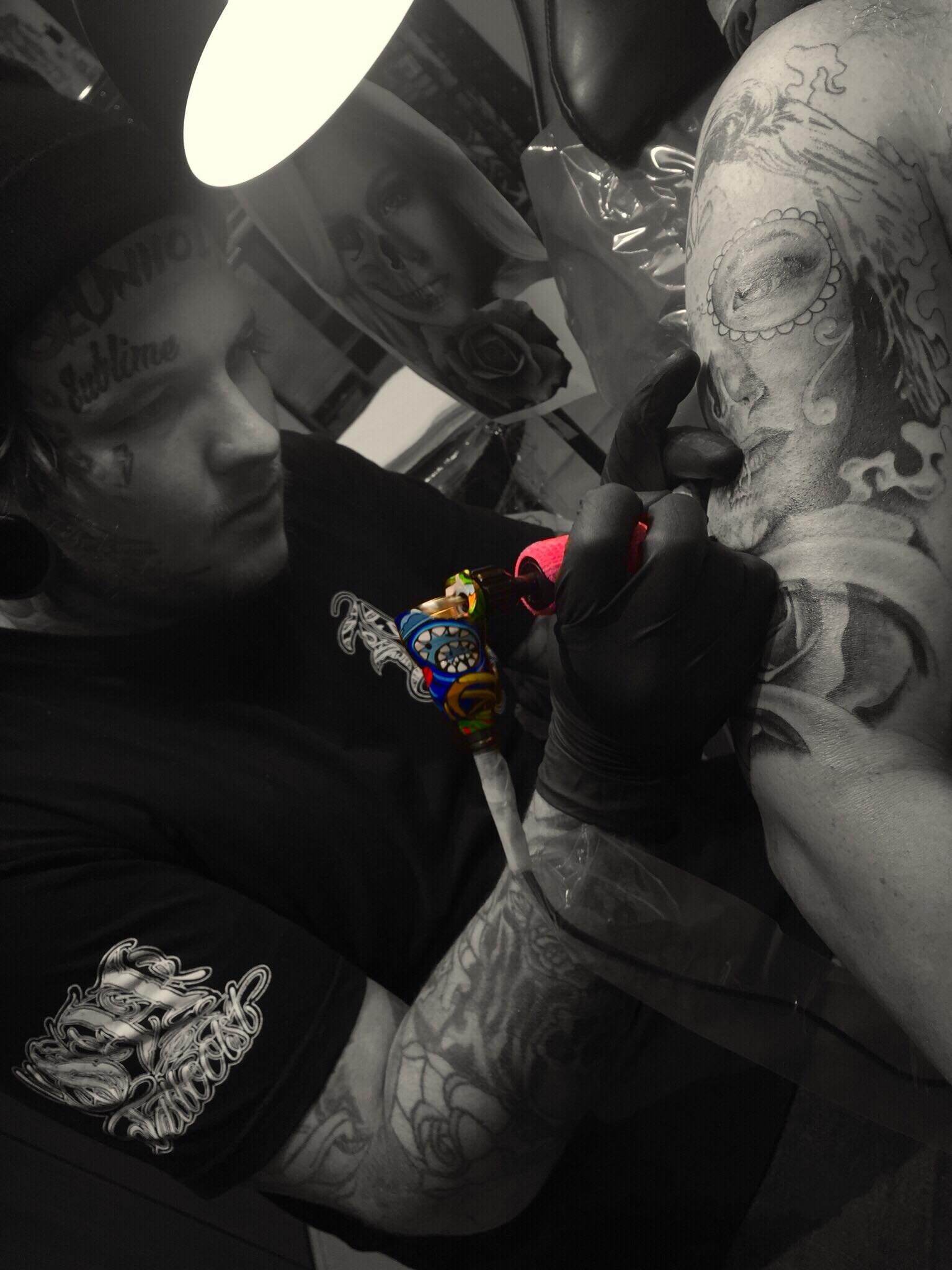 Scott Pickering - Scott is a Australia based artist who's preferred style is black and grey realism but he also enjoys doing color tattoos and Mandalas. Click on his photo to see some of his work!