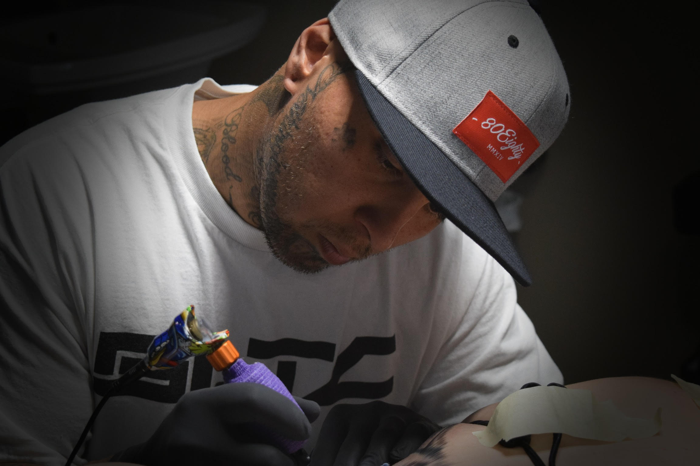 Isaac Luck - Isaac started tattooing professionally in 2008. He specializes in custom freehand lettering, and black and gray realism. He is the owner of Salt Lake Tattoo Company in Salt Lake City Utah. Click his photo to check out more of his work!