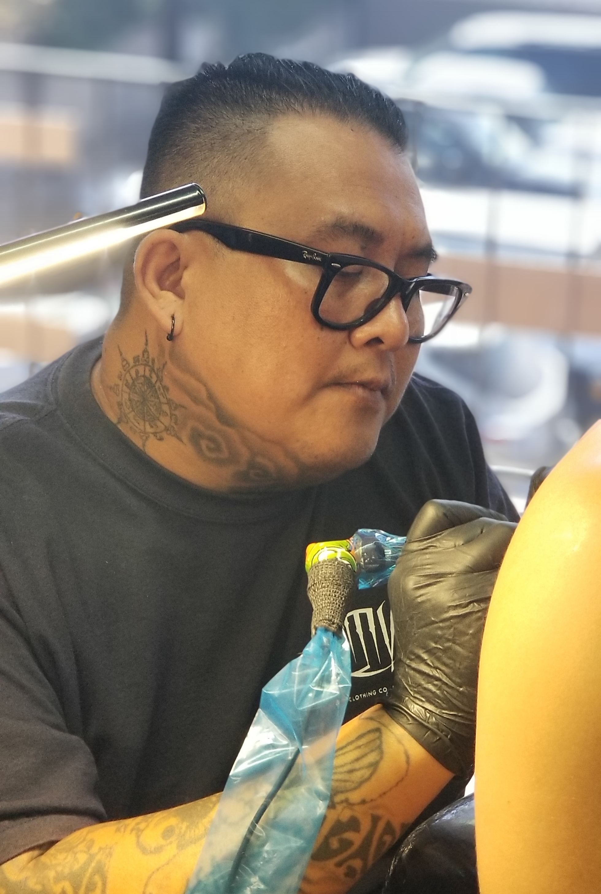 Vitt Louanglath - Vitt is based out of Anaheim, California. He is a self taught artist who loves to do all types of tattoo styles but his favorite is black and grey realism. Click his photo to check out his work!