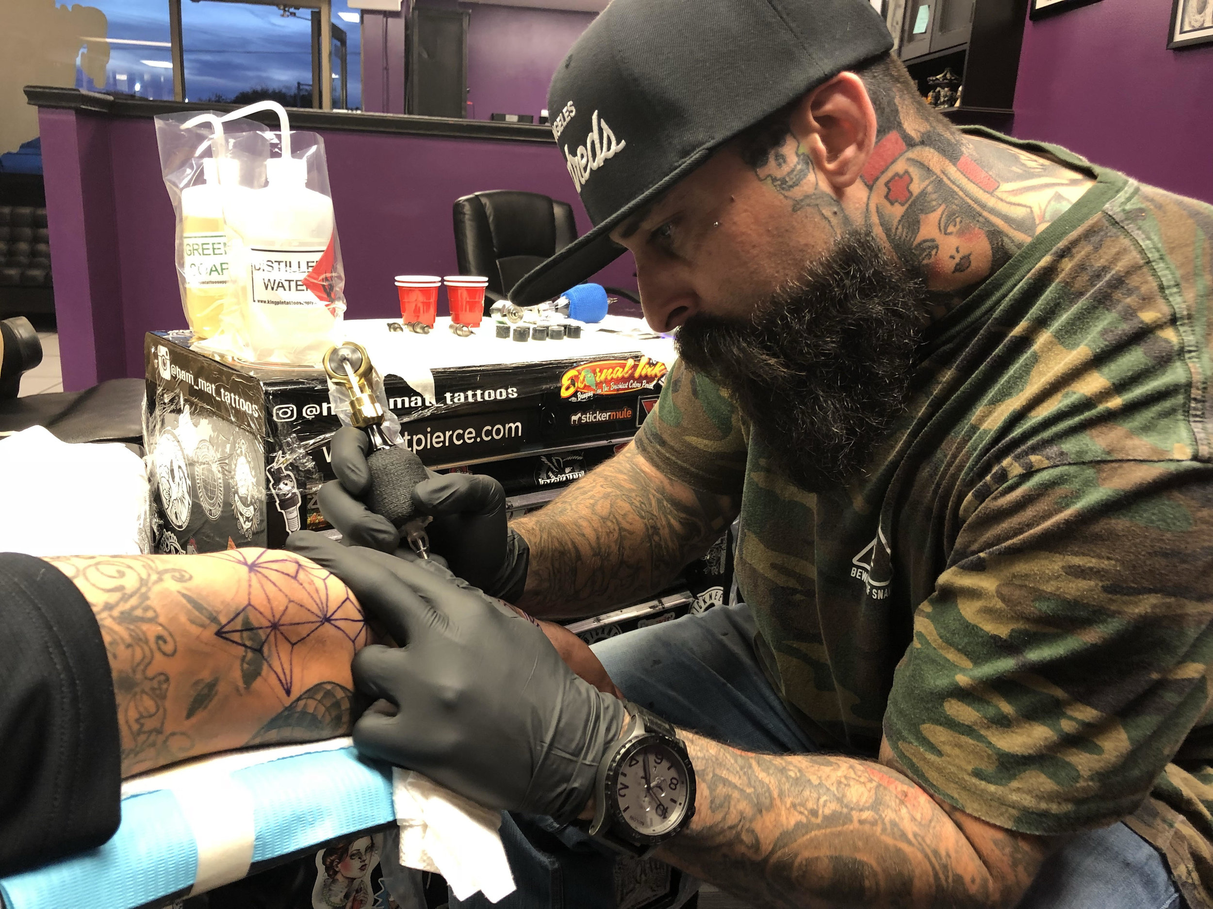 Jake Henry - Jake has been tattooing since 2009. He is the owner of Resurrection Tattoo and Fine Art in North Canton, Ohio. Jake specializes in black and gray as well as color realism. Click his picture to check out his work!