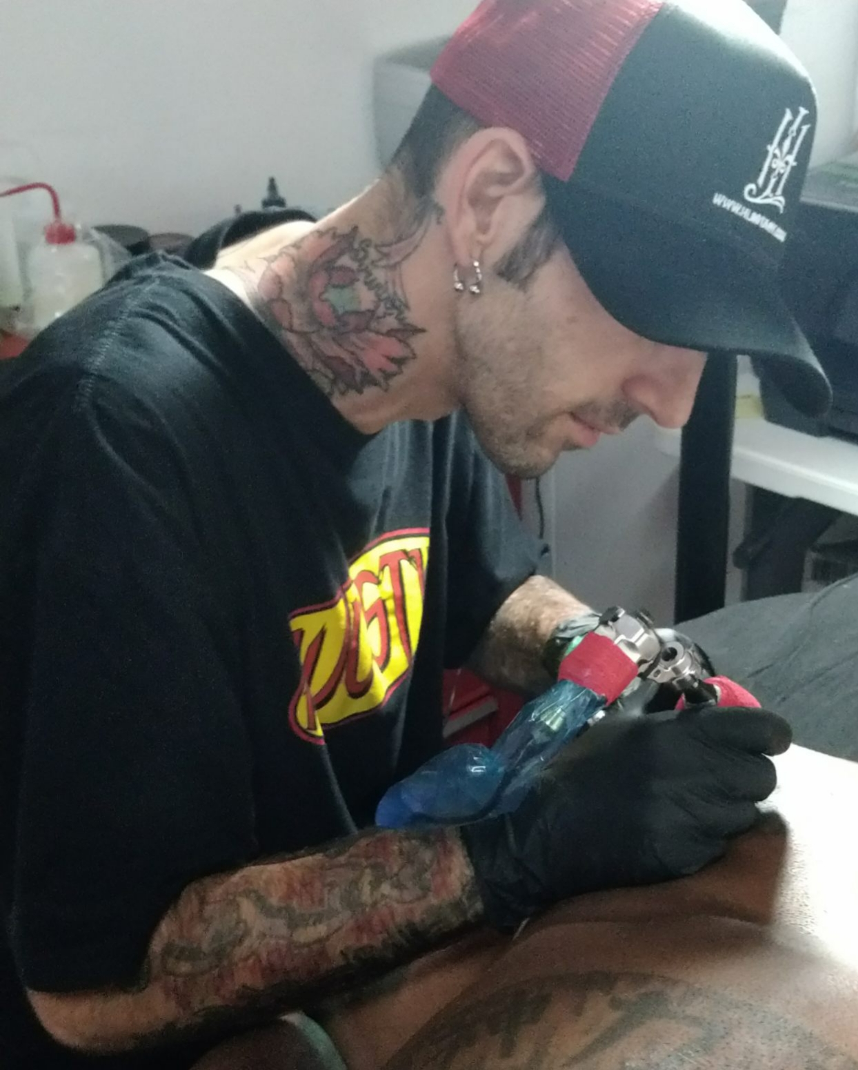 Jeff Lively - Jeff has been tattooing since 2013. He loves the bold lines and bright colors of new school tattoos but also enjoys black and grey as well as other styles. Click his photo to see more of his work!