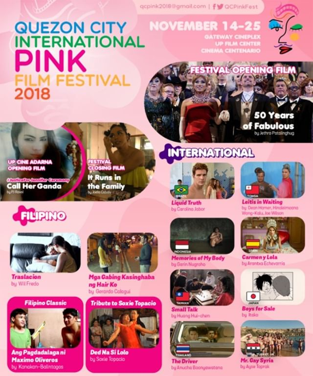 50 Years of Fabulous is honored to be opening the QC International Pink Film Festival! ✨👑✨ #50YearsOfFab #QCPink2018 ... Director @jethrocuenca and star @KhmeraRouge in attendance! #LGBTQ ❤️🏳️‍🌈 #JoseSarria #lgbt #pride #equality #queer #lgbtpride #diversity #filmfestival #filmfest #drag #dragqueen #imperialcouncil #imperialcourt #gay #makeup #instagay #dragrace #queen #lgbtq #instadrag #love #dragqueens #gaypride #causes #charity @dilasso1