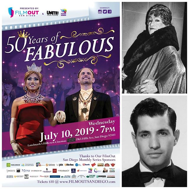 ** THIS WEDNESDAY ** We're excited to be screening in San Diego in just TWO DAYS! Kick off San Diego Pride with a special screening of 50 YEARS OF FABULOUS -- the story of José Sarria and The Imperial Council -- at 7pm at Landmark's Hillcrest Cinemas! ✨👑✨ #50YearsOfFab #SanDiego #SanDiegoPride 🏳️‍🌈 @FilmOutSD @unitemusicfestival @SanDiegoPride #Pride #PrideMonth #50YearsOfFab ✨👑✨ #JoseSarria #Pride50 #Stonewall50 #Pride2019 #LGBTQ #LGBT #LGBTQHistory #LGBTHistory #Queer #QueerHistory #nyc #film #documentary #drag #causes #ImperialCouncil 🏳️‍🌈