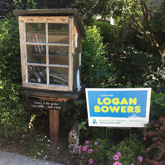 I love seeing these while doorbelling! These people are obviously well-read. Let me know if you would like one for your yard or window.