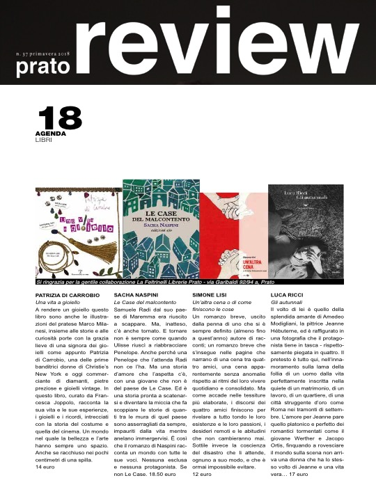 Prato Review Spring 2018