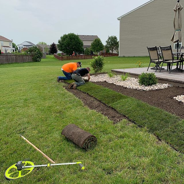 The guys killed it on this job this week. We did a full design and install on this property. Let us know how we can help you with your next project. . . . #landscaping #lawncare #design #landscapeinstall #sod #gravel #plants #landscapedesign