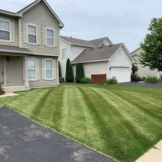 Can't say enough about our guys. Every guy on our team has stepped up big this year and helped us progress as a company. Huge thanks to Zak for this one. . . . #mowing #stripes #lawncare #landscaping #realestate #grass #summer