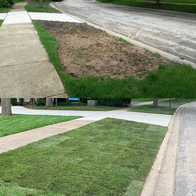 Here's a little sod project we did awhile back. Let us know how we can help you with your next sod job. . . . #landscaping #sod #lawncare #grass #realestate