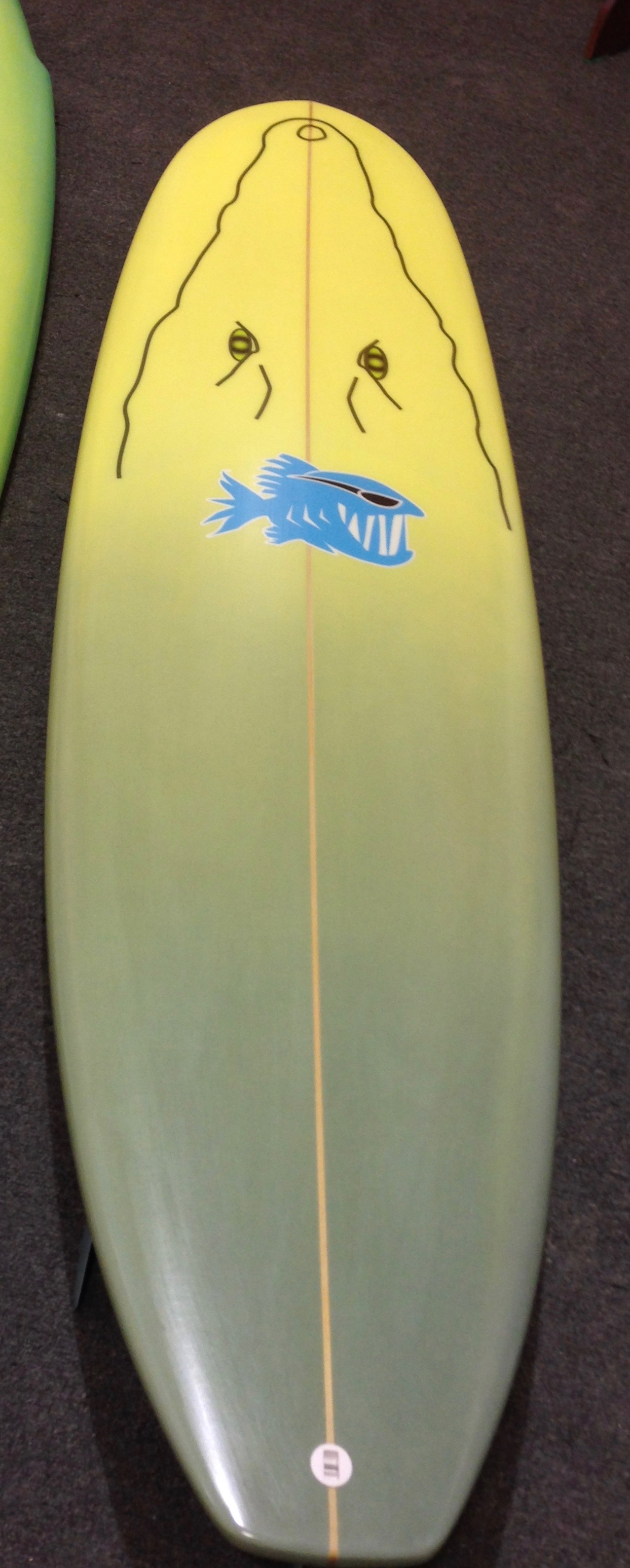 "CocoDrilo Squash Tail Mini Log - Our squash tail salt water ripper is sleek, fast and manuravable just like the Salt Water Crocodiles it was named after! If your looking to increase your wave count and rip, this is the board for you! Custom from 6'8"" to 7'2"" in size. Shown in a custom painted Croc print but can come in other colors."