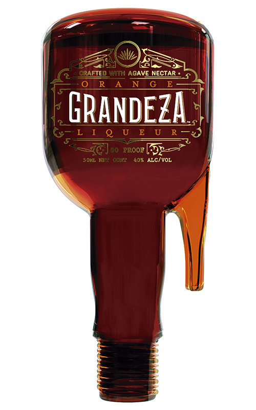 Grandeza's patented mini  sidecar bottle