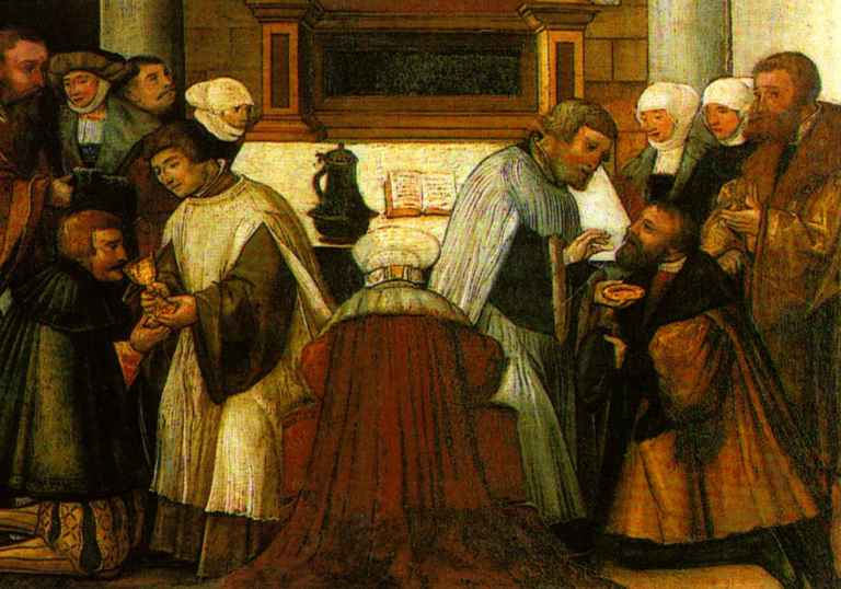 """""""Altar of the Eternal Word"""";Reformation altar by Michael Ostendorfer, detail; Photograph: Regensburg City Museum"""