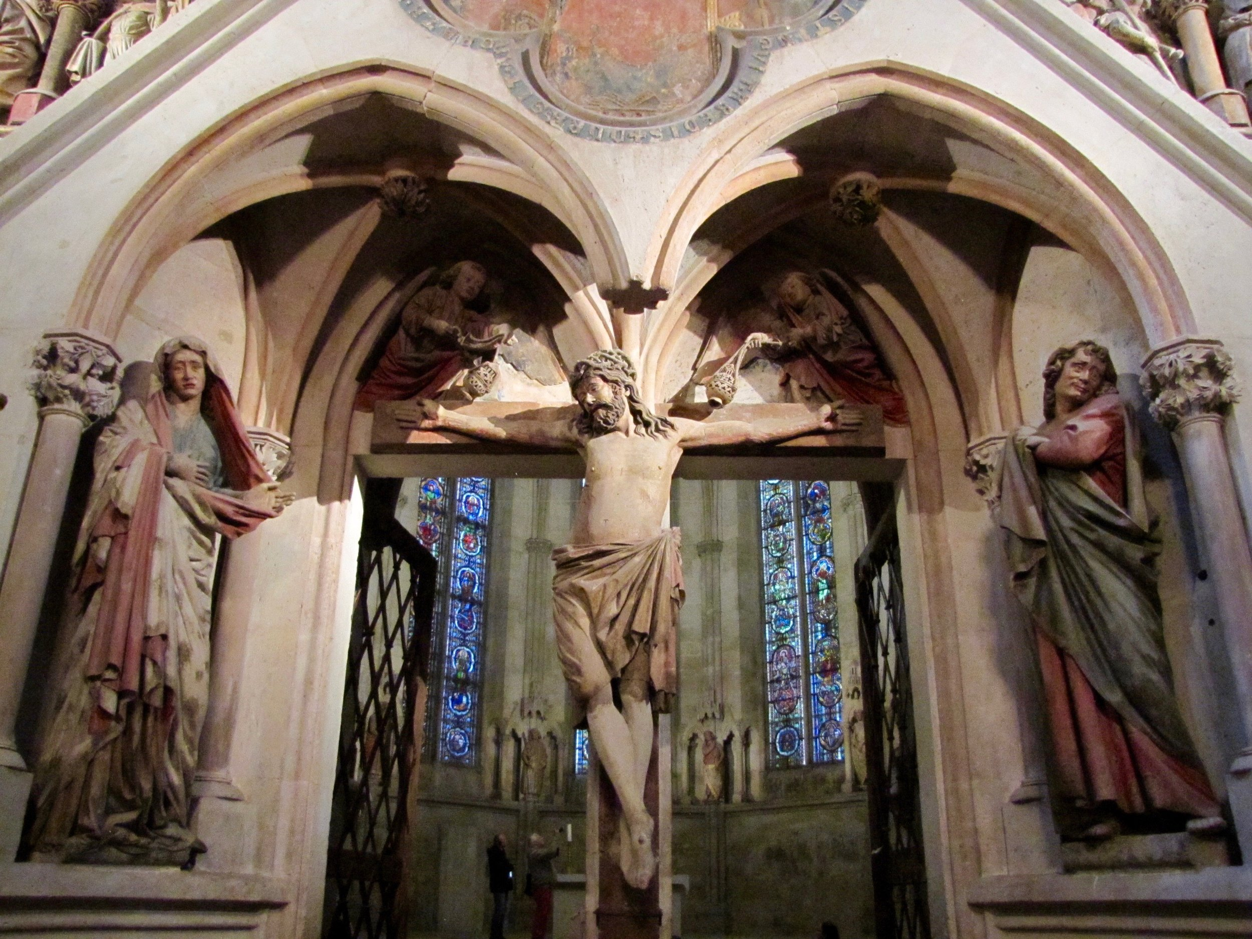 13th century sculptures from the west rood screen of Naumburg Cathedral, Germany.