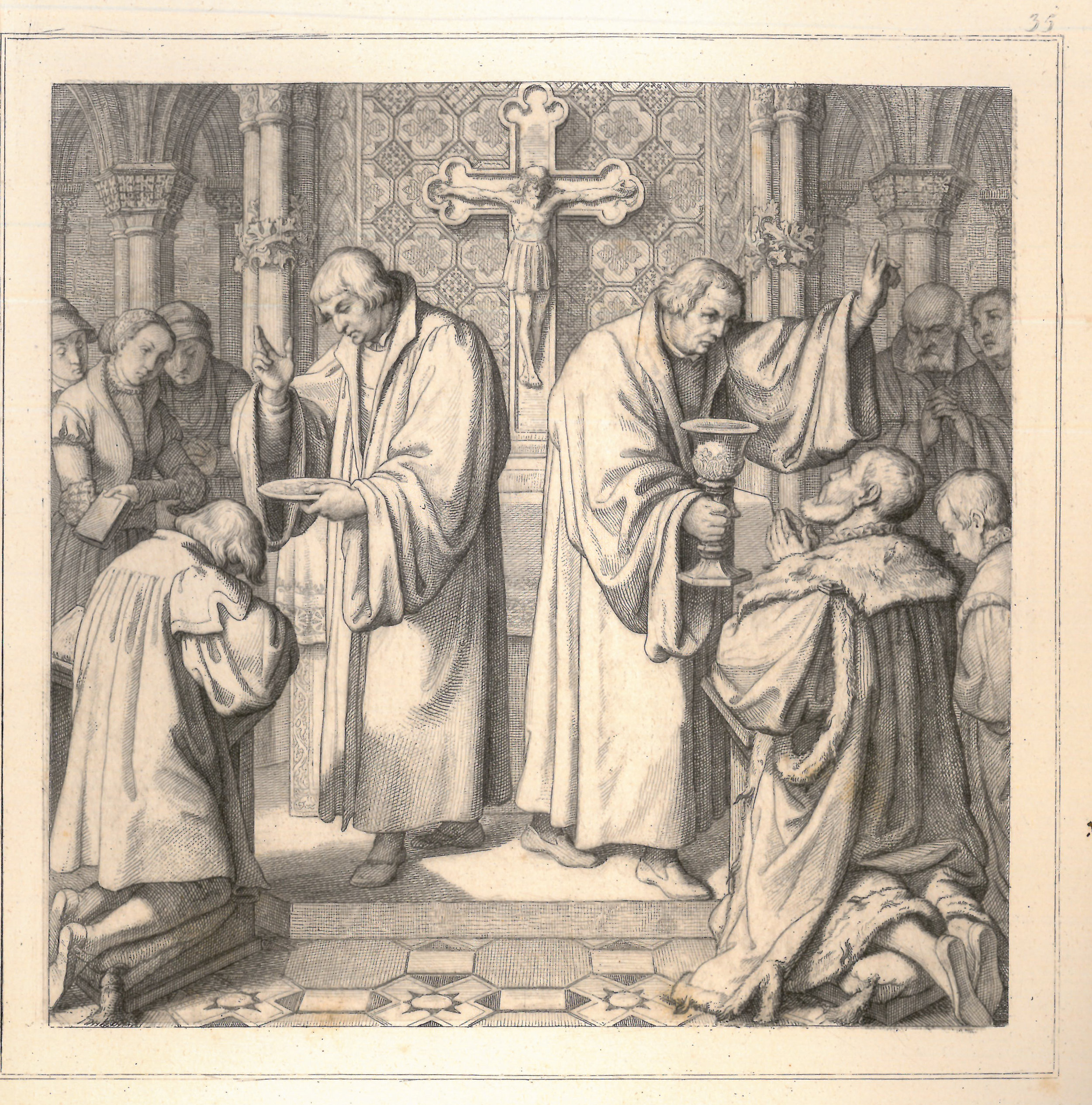From König, Gustav,  The Life of Luther in Forty-eight Historical Engravings.