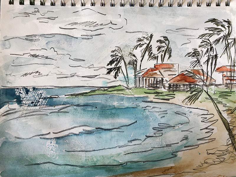The view from the Kiahuna Plantation beach
