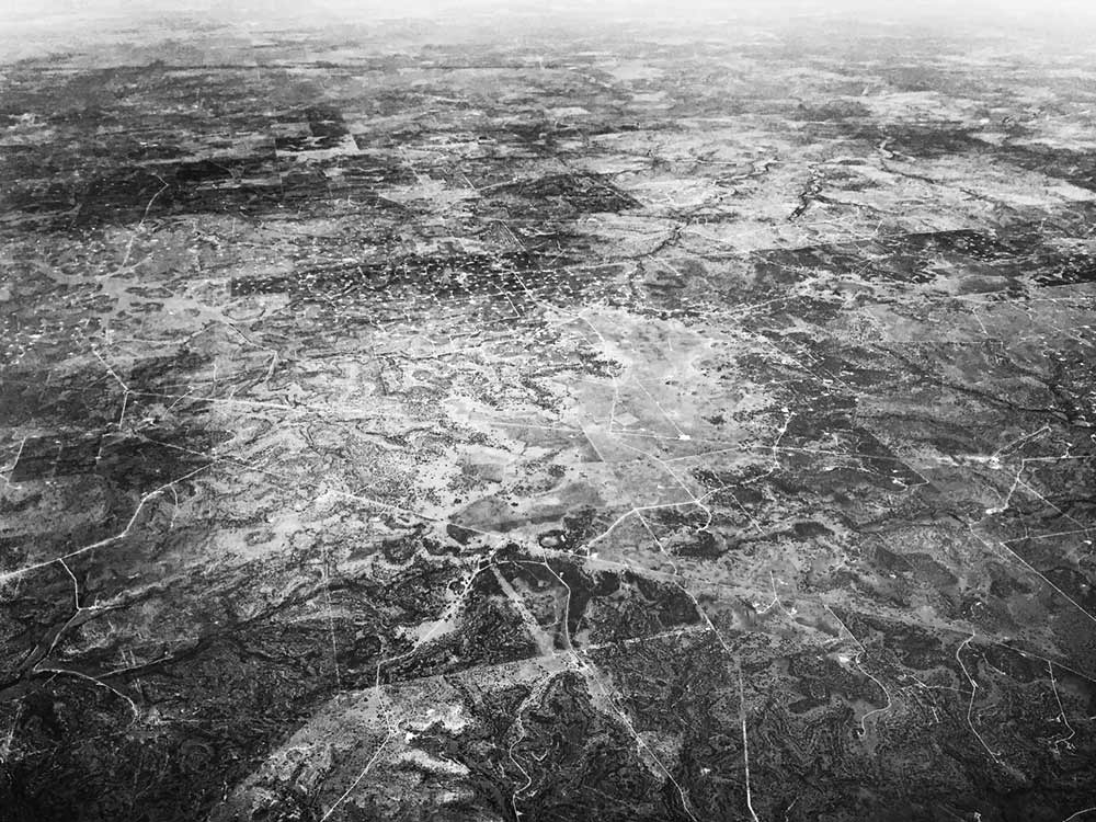 Aerial view of somewhere over Texas