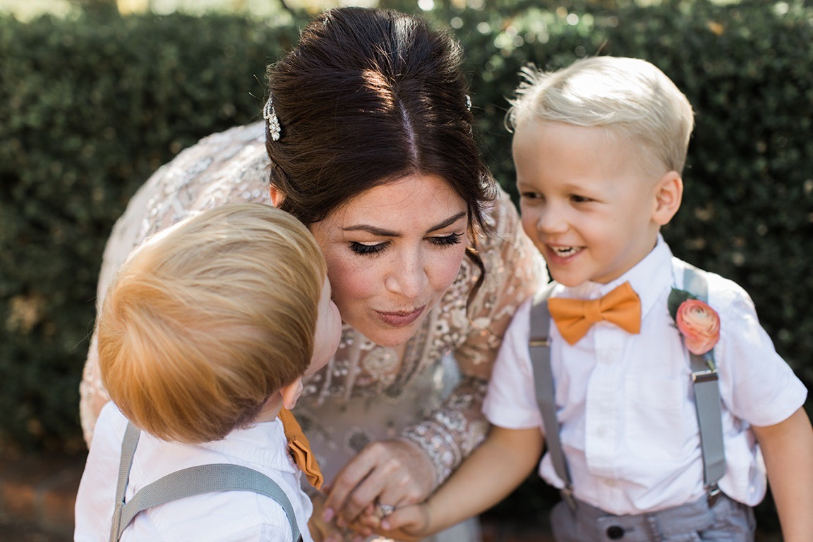 Erin and her two ring bearers- does it get any cuter?