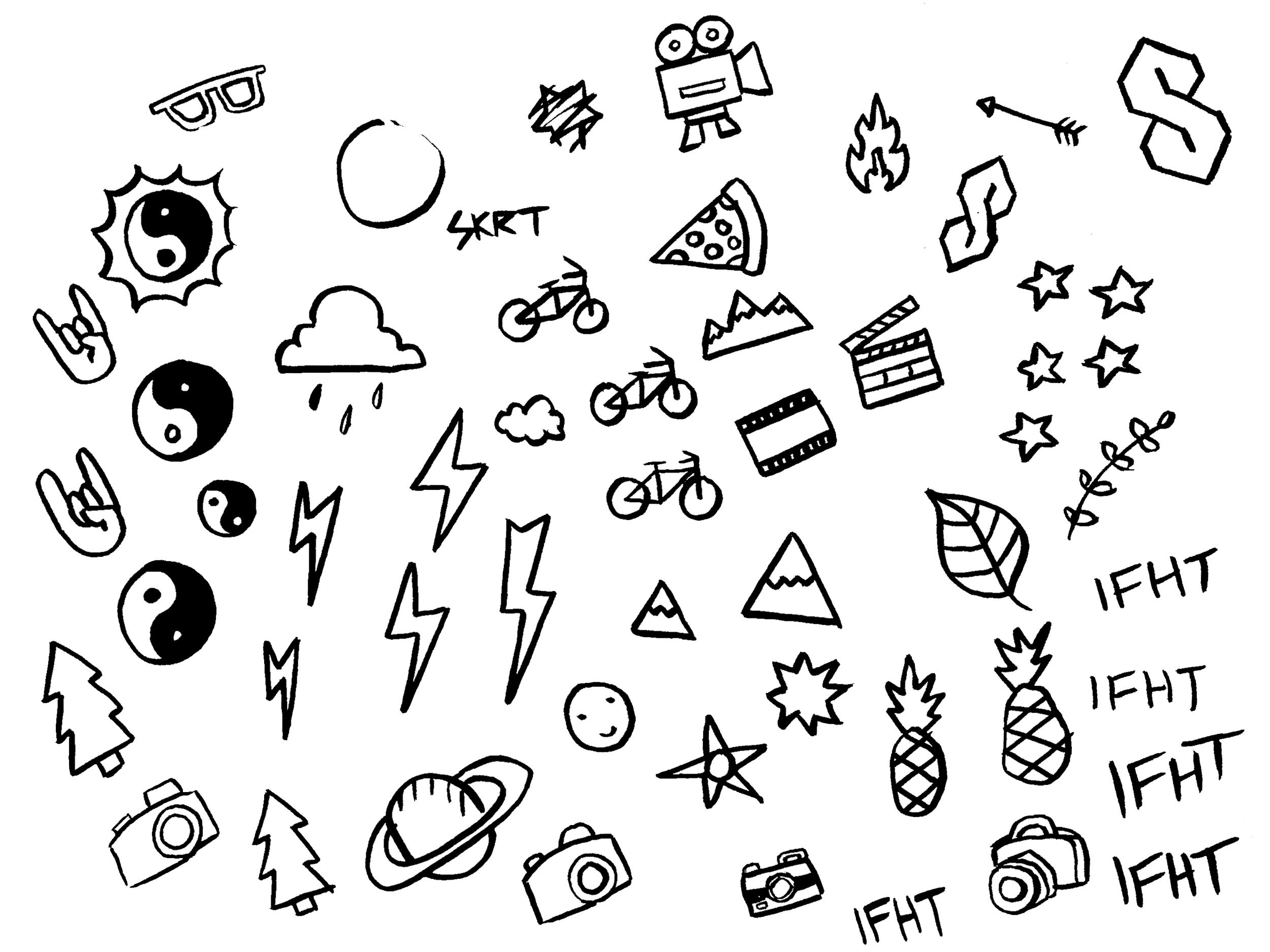 Matt Dennison's doodles.